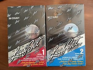 1991 Leaf Series 1 And 2 Baseball Factory Sealed Box Lot Of 2
