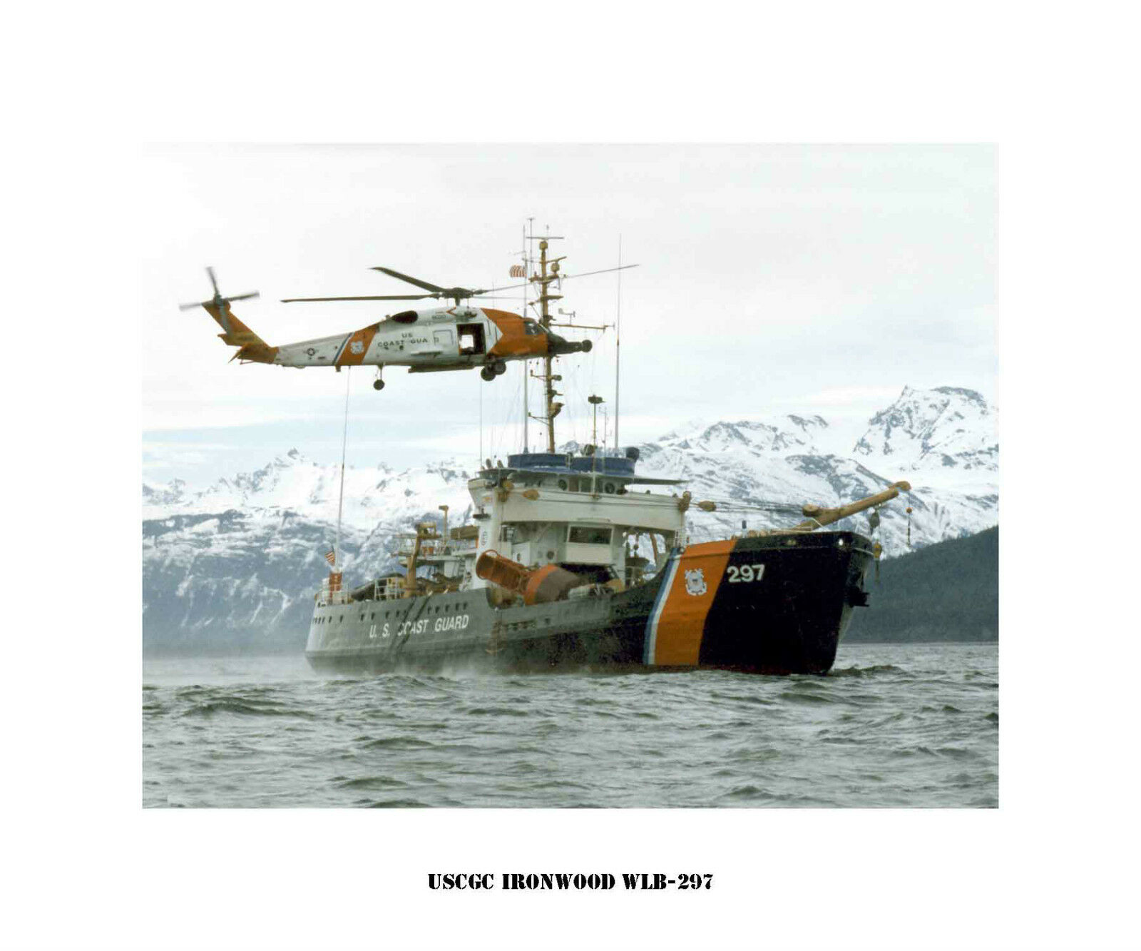 USCGC Ironwood WLB-297  ---USCG, United States Coast Guard Ship Photo Print