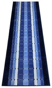 Custom-Size-Squares-Blue-indoor-Runner-Rug-Soft-Non-Skid-Slip-Resistant-26-Wide