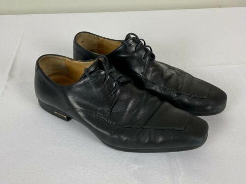 Gucci Mens Dress Shoes Leather Lace Up Black Leath