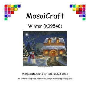 MosaiCraft-Pixel-Craft-Mosaic-Art-Kit-039-Winter-039-Pixelhobby