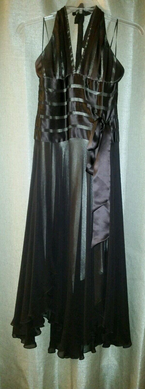 Cache halter dress brown. size 8