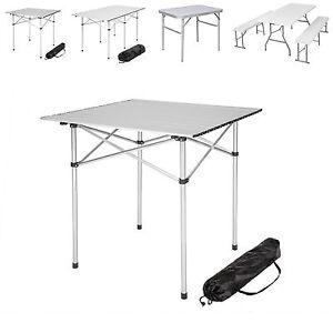Klapptisch koffertisch falttisch gartentisch campingtisch sitzb nke campingm bel ebay - Tavolo pieghevole a valigia ...