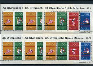 Bund-Block-8-postfrisch-6-Stueck-BRD-734-737-Olympia-1972-Muenchen-Motiv-Sport