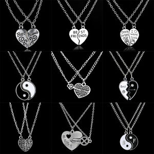 7dad02e02 Image is loading 2P-Best-Friend-Gifts-Heart-Pendant-Necklace-Chain-