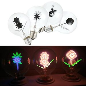 Image Is Loading Vintage Industrial Filament Floral Iris E27 LED Night
