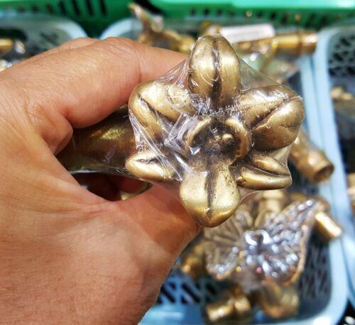 Brass Garden Tap Faucet  Orchid Spigot Flower Vintage Water Home Decor Outdoor