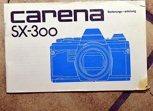Kamera Bedienungsanleitung Carena SX-300, guter Zustand!! - Ternitz, Österreich - Kamera Bedienungsanleitung Carena SX-300, guter Zustand!! - Ternitz, Österreich