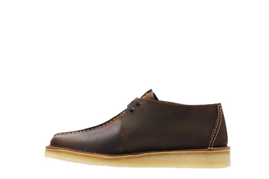 Clarks Originals Desert Trek Uomo Uomo Uomo Center Stitch Beeswax Leather scarpe 26113552 e253bb