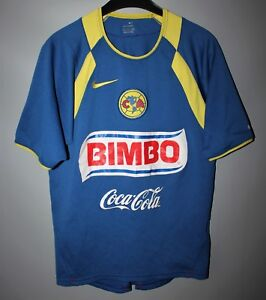 sports shoes 18d12 45902 Details about CLUB AMERICA MEXICO 2005/2006 AWAY FOOTBALL SHIRT JERSEY  CAMISETA NIKE S ADULT