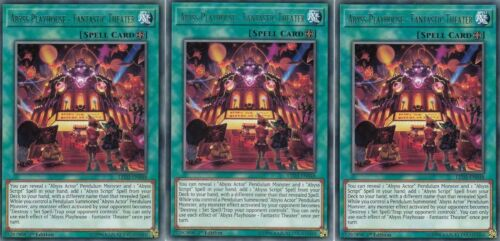 Fantastic Theater LED3-EN048 Rare NM Legendary Duelists 3x Abyss Playhouse
