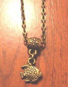 c58e9025c71f La imagen se está cargando collar-de-cadena-bronce-41-cm-con-colgante-