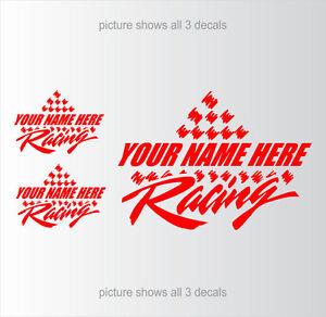 Racing-Team-YOUR-TEXT-Car-Truck-CUSTOM-Decals-Setof3