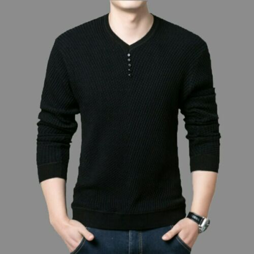 Men S Cashmere Sweaters Pullover Homme Solid Sleeve Winter Casua Vneck QUALITY