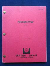 RESURRECTION - ORIGINAL SCREENPLAY of ELLEN BURSTYN, EVA LE GALLIENNE Film