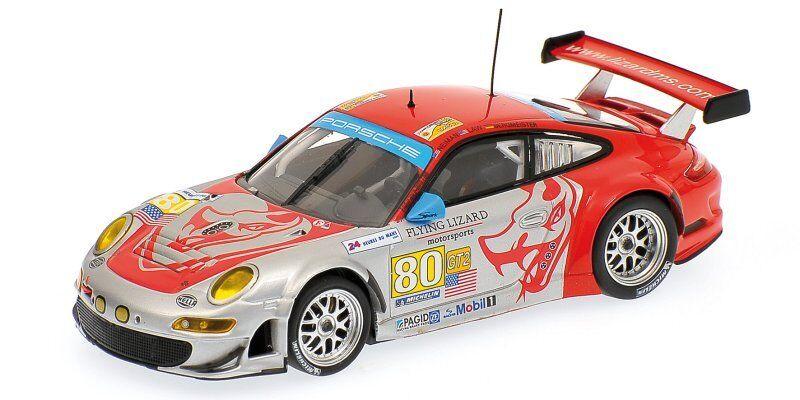 Porsche 911 Gt3 RSR  80 Le Mans 2009 1 1 1 43 Model MINICHAMPS abcf90