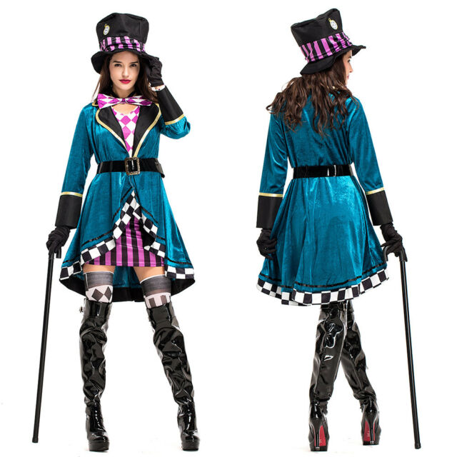 Mens Mad Hatter Alice Wonderland Book Week Fairytale Fancy Dress Costume Outfit Medium For Sale Online Ebay