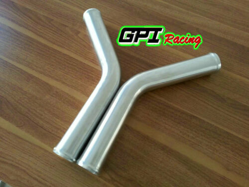 "2.5/"" 63mm 45 Degree Aluminum Turbo Intercooler Pipe Tube Tubing 600MM"