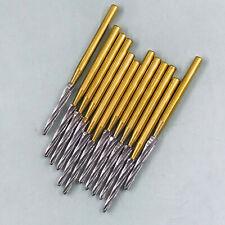 12pcs Dental Fg Burs 28mm Surgical Zekrya Carbide Bone Cutters Finishing Gold
