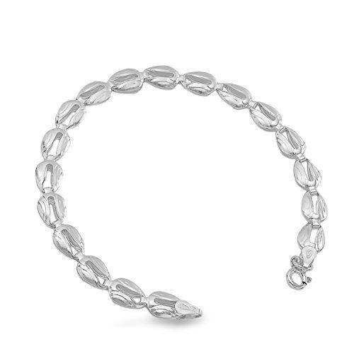18cm Länge  Silberarmband Hochwertige 925 Silber Damenarmband 8 mm Breite