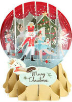 Nutcracker Snow Globe Pop Up - Up With Paper Christmas Card By Up With Paper