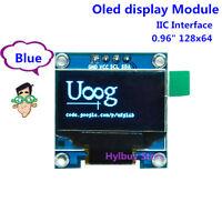 Blue 3.3V 5V I2C IIC 128X64 OLED LCD Screen DisplayPunkte Anzeige für Arduino