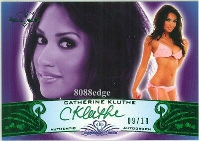 Collectables 2010 Benchwarmer Ss Green Auto:catherine Kluthe #9/10 Autograph Signature Series