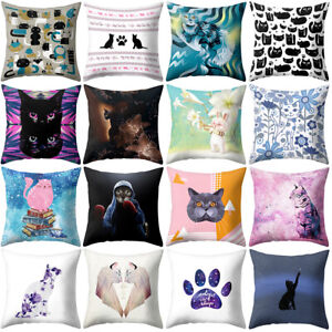 18-039-039-Cat-Kitten-Throw-Pillow-Case-Cushion-Cover-Sofa-Bed-Car-Home-Decor-Sightly