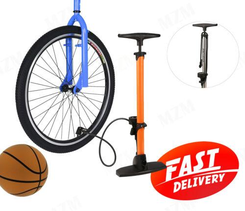 Bicycle Floor Pump Bike Tire Pump with Gauge Presta Valve Types Fits Schader