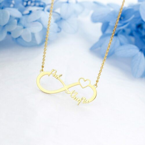 Halskette Edelstahl Farbe Gold *TOP* Personalisierter Namen Anhänger