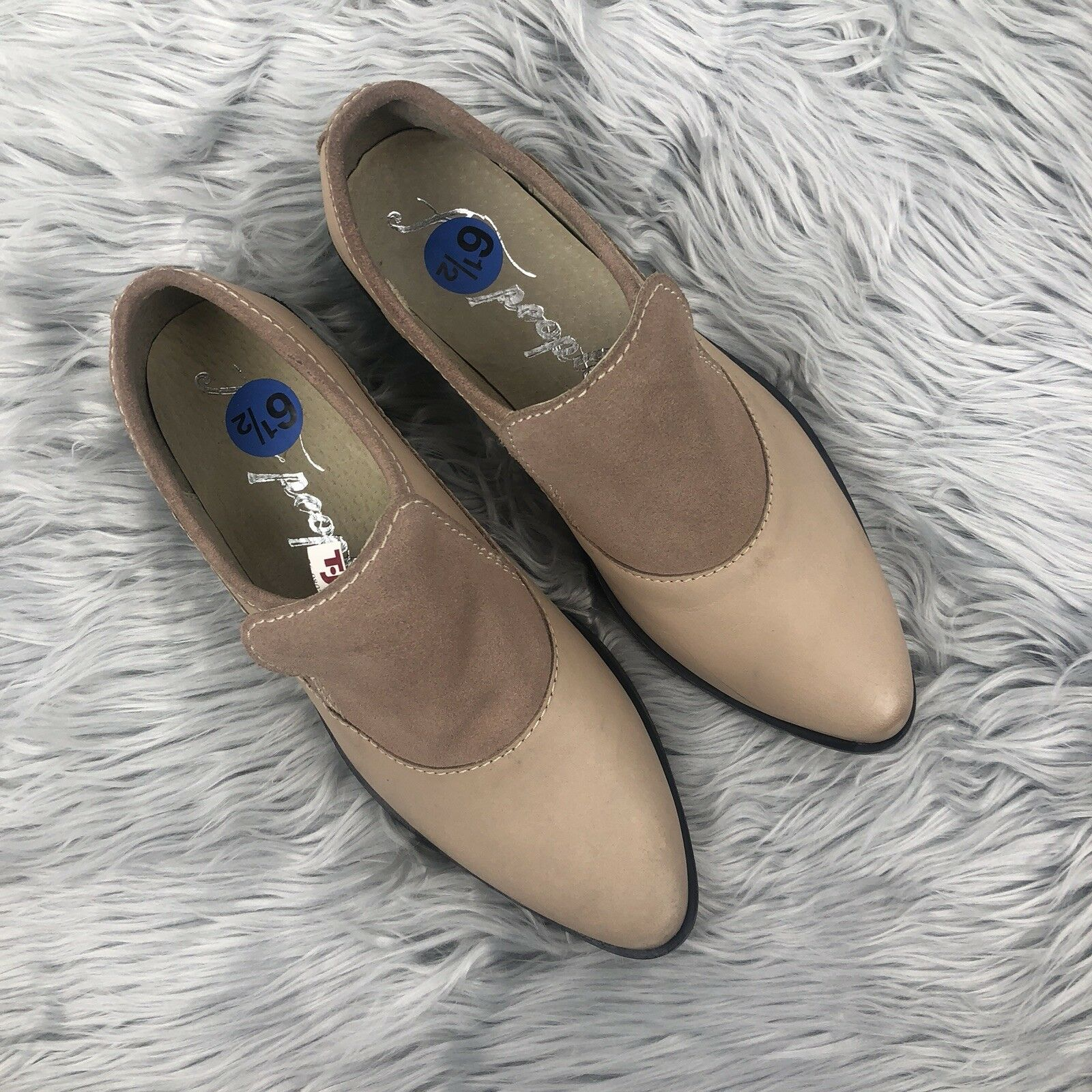 Free People Brady Loafers Lather Flats shoes,  Size 6.5 Womens Size 37