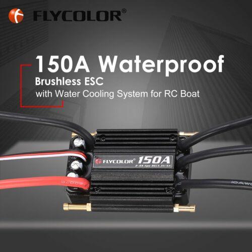 Original Flycolor 150A Brushless Water Cooling ESC with 5.5V BEC for RC Boat HL