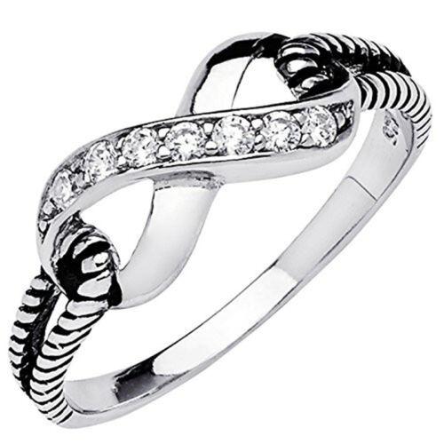 1 Ct Blanc Saphir Bow Bague Argent 925 Mariage Chic Femme Bijoux bande Taille 5-11