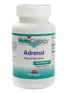 Nutricology-Adrenal-Natural-Glandular-150-VCaps-Lypohilized-Bovine