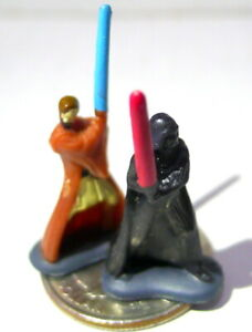 Star Wars LFL Mini MIniatures Lot of 2 Darth Vader Luke Skywalker non-poseables