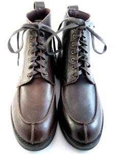 Allen-Edmonds-034-Rainier-034-Men-039-s-Boots-Split-Toe-Blucher-9-D-Brown-USA-553
