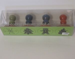 Set-of-4-Tag-Christmas-Cookie-Presses-Stamps-in-Original-Packaging