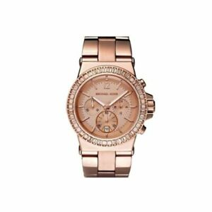 Michael-Kors-MK6213-Dylan-Rose-Gold-Glitz-Women-039-s-Watch