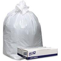 Genuine Joe Trash Can Liners, Hvy-dty, 9mil, 38x58, 100bg/ct, White 3858w on sale