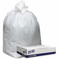 Genuine Joe Trash Can Liners, Hvy-dty, 9mil, 38x58, 100bg/ct, White 3858w on sale
