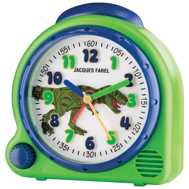 Jacques Farel Kids Uhr Kinder Wecker Modell Dino AVC13 DINO mit Weck-Sound