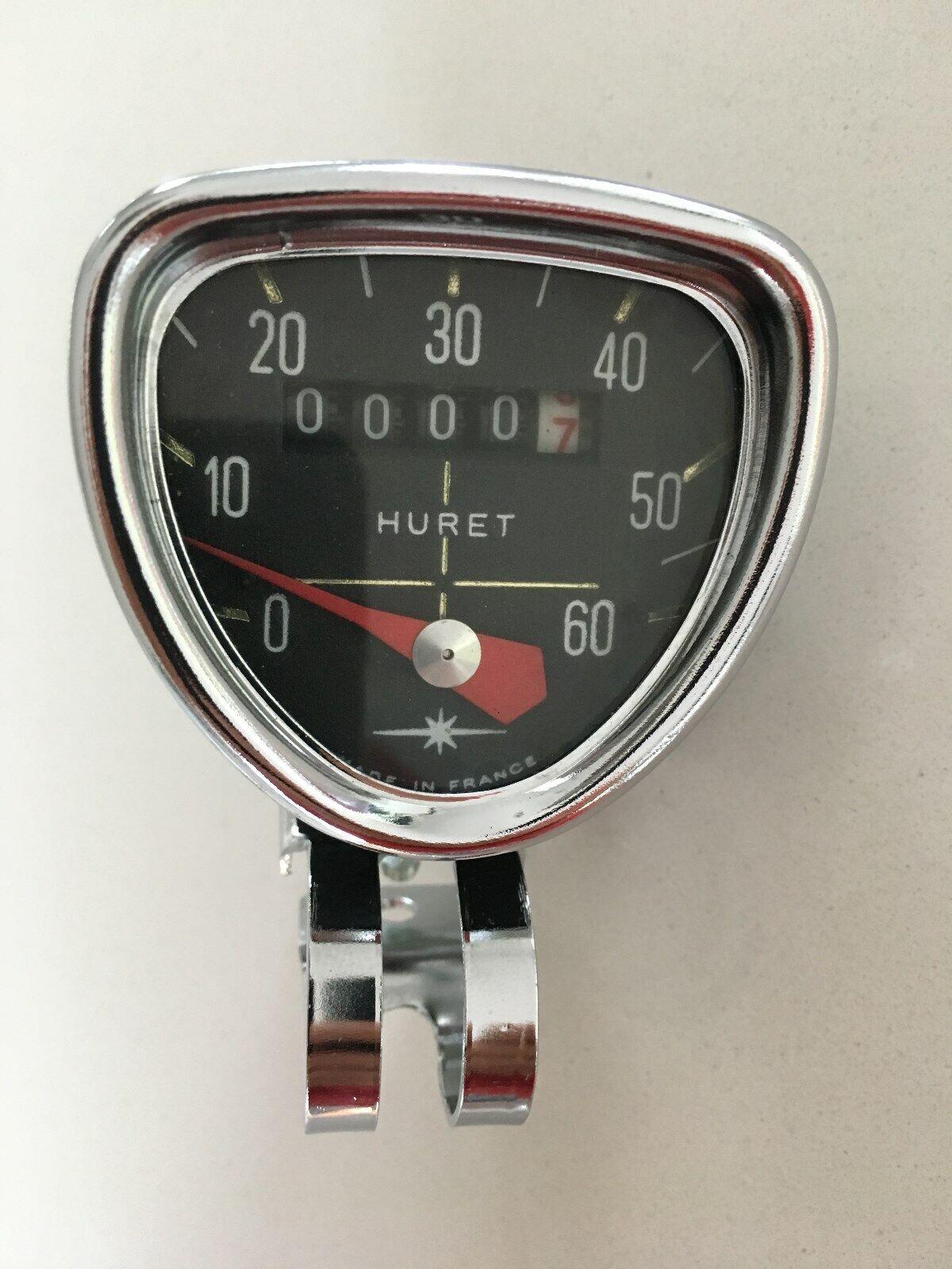 Vintage  retro Tacho  Speedometer  Huret  from the 7080ties  NOS