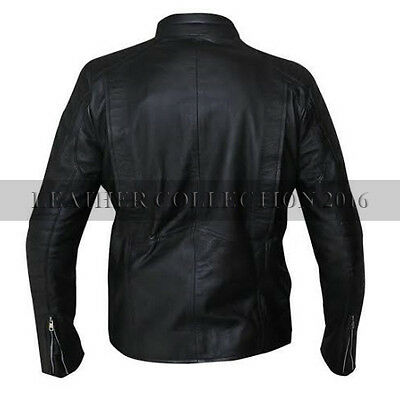 New Punisher Skull Emobossed Black Biker Leather Fashionable Jacket