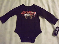 Infant Girl christmas Rocks Bodysuit By Baby Glam Sz 6 Month