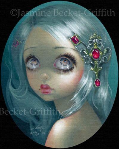 Eyes on the Heavens Jasmine Becket-Griffith CANVAS PRINT big eye lowbrow art