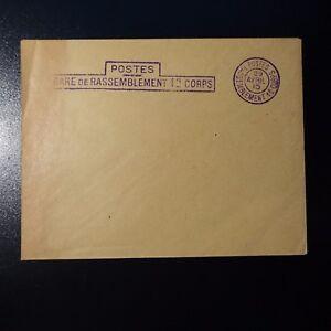 Lettre Cover Postes Gare De Rassemblement 1er Corps Violet 1915