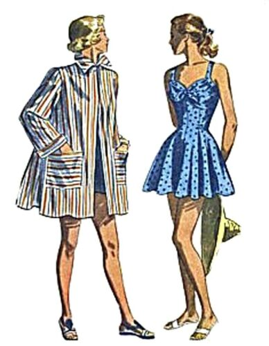 #175 SWIM SUIT AND COAT DOLL PATTERN YOU PICK YOUR SIZE