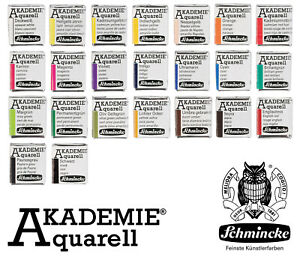 24-Farbtoene-Schmincke-Akademie-Feine-Kuenstler-Aquarellfarbe-1-2-Naepfchen