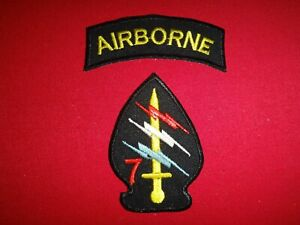 2-Vietnam-War-US-Army-Shoulder-Patches-AIRBORNE-7th-SPECIAL-FORCES-Group