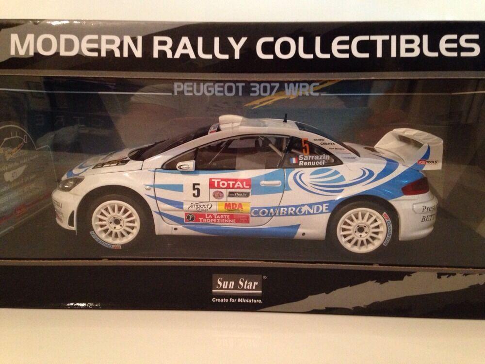 Peugeot 307 WRC - Sarrazin & Renucci  - 1 18 New Sun Star 4699 Limited New